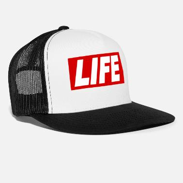 Font LIFE cool Quote Obey Sign gift idea - Trucker Cap