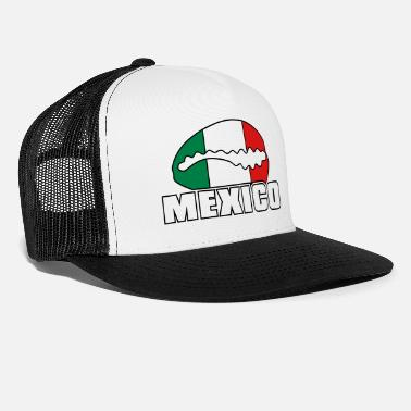 Bandera Mexico flag in cowrie - Trucker Cap