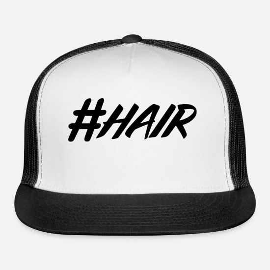 Paint Brush Caps - hashtag, hash, for story, stories, story - Trucker Cap white/black