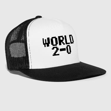 World 2-0 (80s PC font) - Trucker Cap