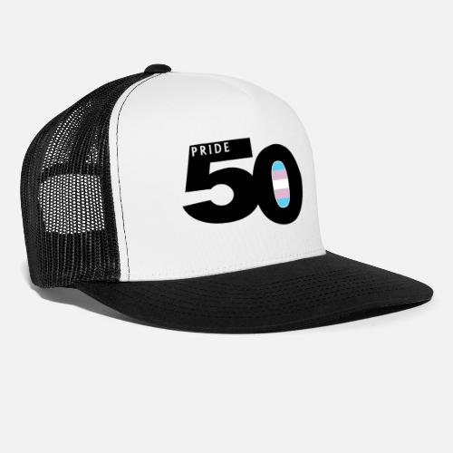 668a14ff0 50 Pride Transgender Pride Flag Trucker Cap - white/black