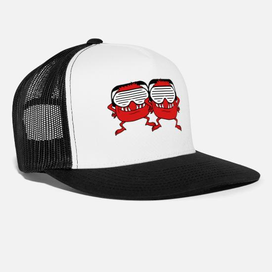 Team Bride Caps - party elephant dj music celebrate dancing club dis - Trucker Cap white/black