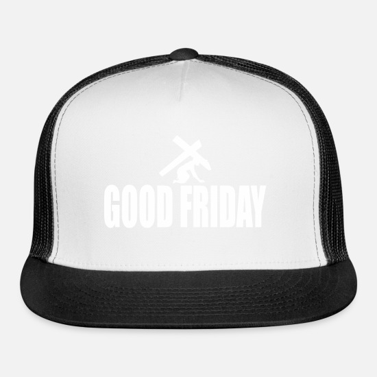 Jesus Christ Caps - Good Friday Jesus Christ - Trucker Cap white/black