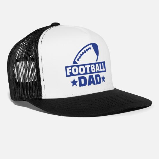 Father's Day Caps - Football - Trucker Cap white/black