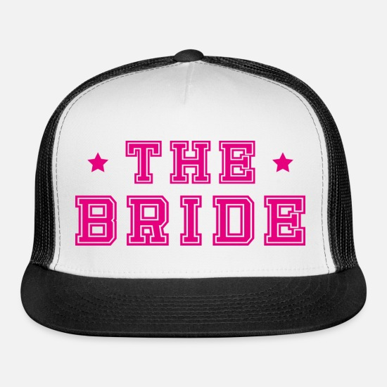Bride Caps - Bride bachelorette party - Trucker Cap white/black
