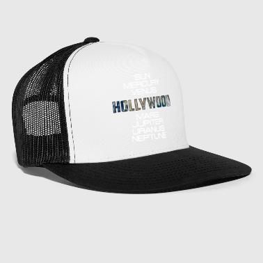 Solar System Planet Earth Hollywood Gift - Trucker Cap