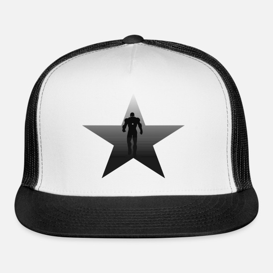 Starry Sky Caps - star hero - Trucker Cap white/black