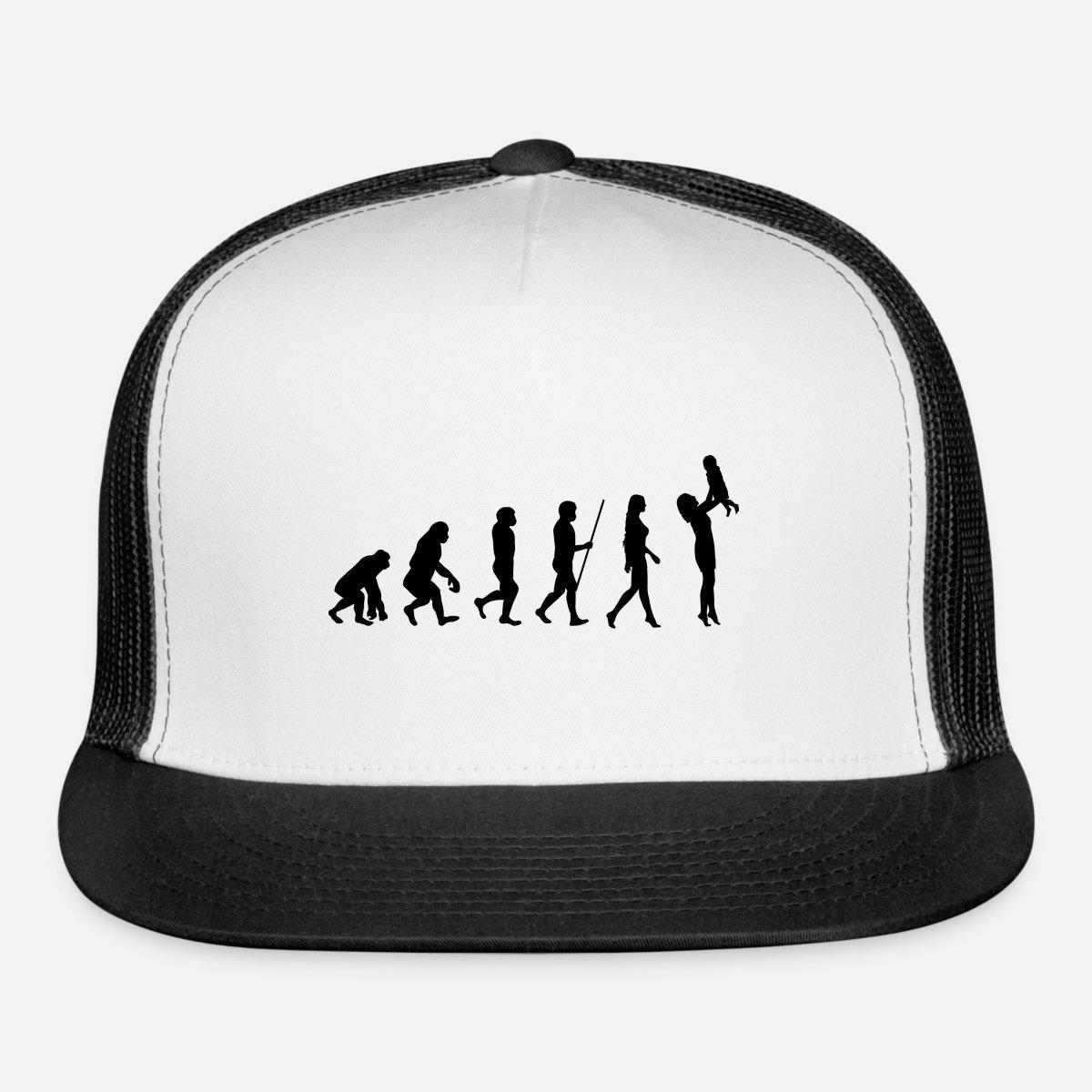 600878b8 parent evolution kid parenting god gift mother mom Trucker Cap | Spreadshirt