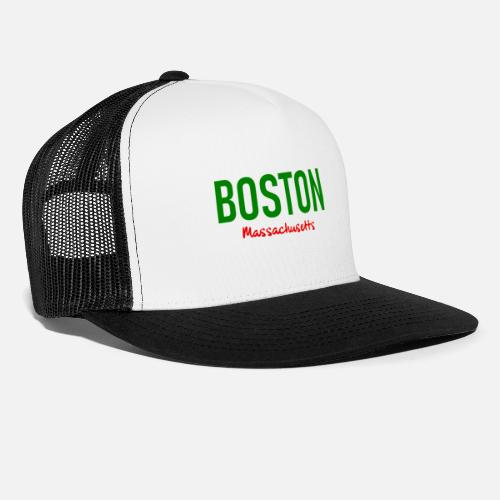 bef42b1fd7b Boston - Massachusetts - USA - United States Trucker Cap