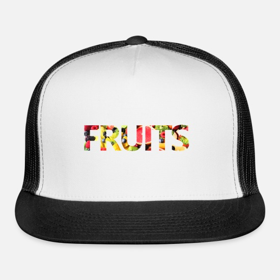 Fruits Caps - Fruits - Trucker Cap white/black