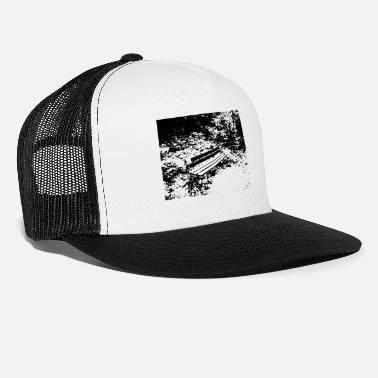 Idyll bench in the forest - Trucker Cap