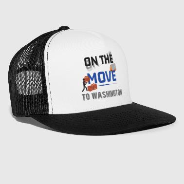 On the Move to Washington Moving State & House Gif - Trucker Cap
