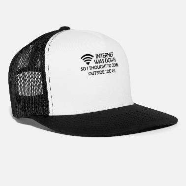 Down With Detroit INTERNET WAS DOWN - Trucker Cap