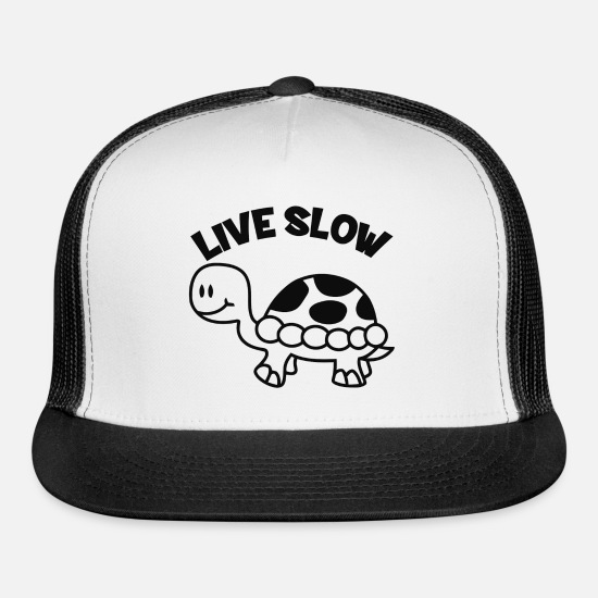 Movie Caps - Live Slow - Trucker Cap white/black