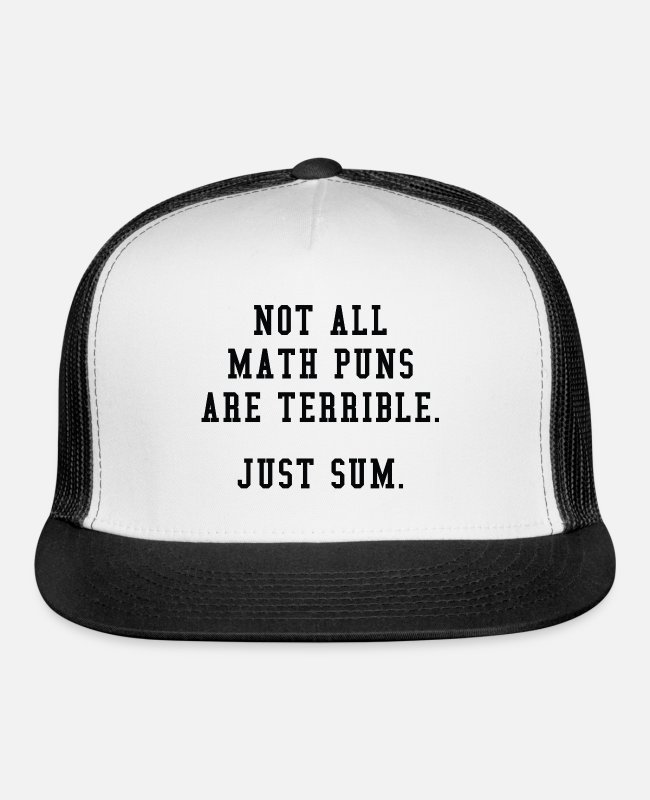 School Caps & Hats - Math Puns - Trucker Cap white/black
