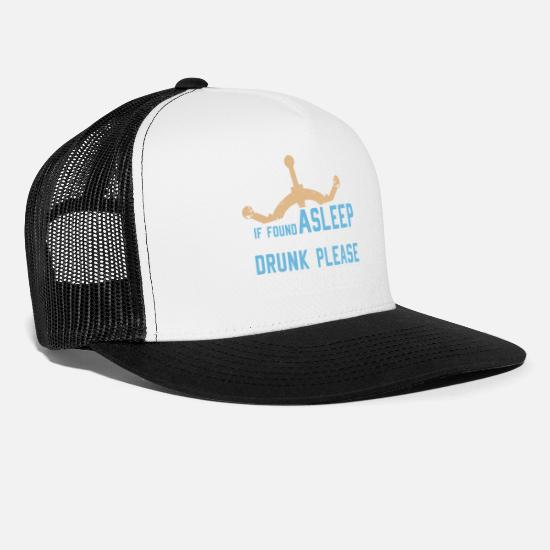online store 4674e 8b550 Nautical Caps - If Found Asleep or Drunk Please Return Gift - Trucker Cap  white