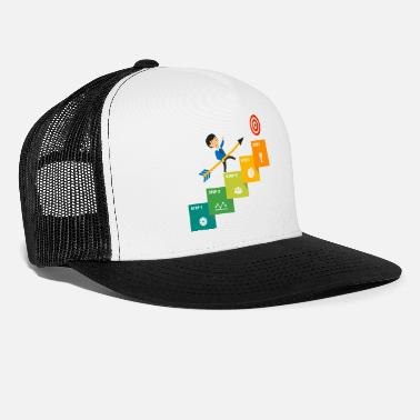 Steps Step by step toward the target - Trucker Cap