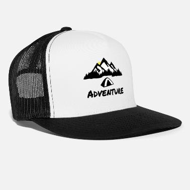 Climber Camping Nature Adventure, Mountains & Forest - Trucker Cap