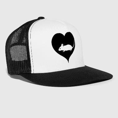 Rodent Black heart mouse - Trucker Cap