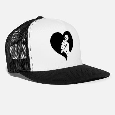 Rapper Microphone with heart - Trucker Cap