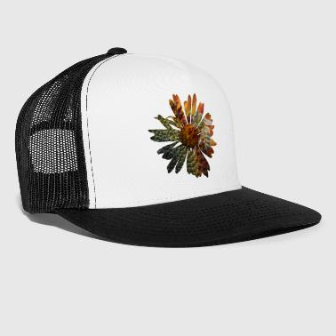 Picture Picture in picture - a daisy flower with a bee - Trucker Cap