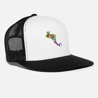 Central America Central America map with country borders - Trucker Cap