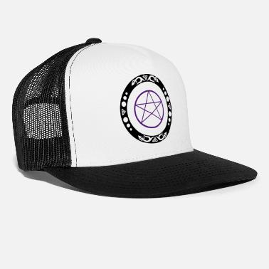 Trinity Big pentagram with trinity symbol. - Trucker Cap