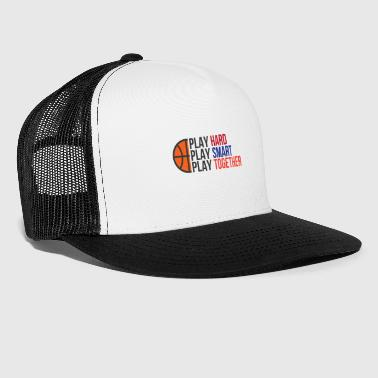 Play Play Hard, Play Smart, Play Together - Trucker Cap