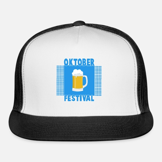 Birthday Caps - Oktoberfest in Bavaria Munich Germany - Trucker Cap white/black