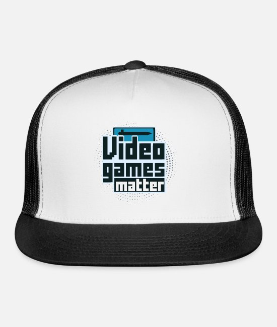 Video Game Caps & Hats - Video Games Matter - Trucker Cap white/black