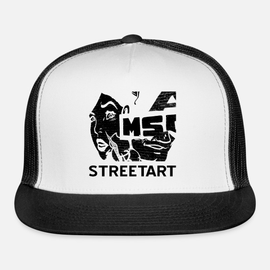 Wife Caps - Graffiti WoMan Urban Street Style Streetwear Gift - Trucker Cap white/black