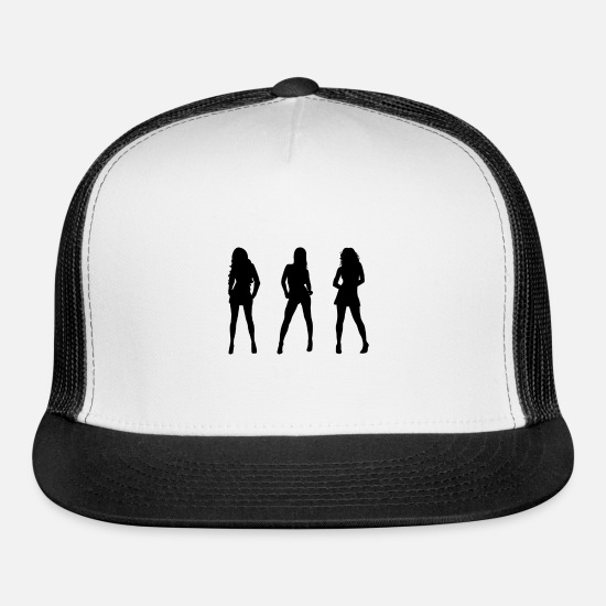 Sexy Girl Caps - Sexy Girls - Trucker Cap white/black
