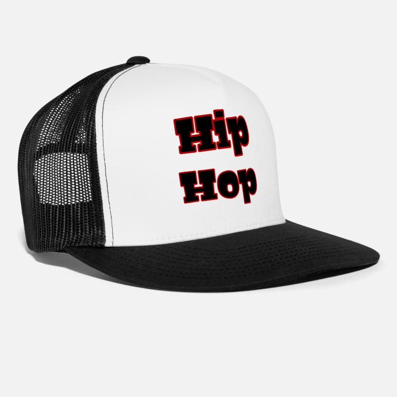 345d54f58d8 Rap Caps - hip hop - Trucker Cap white black