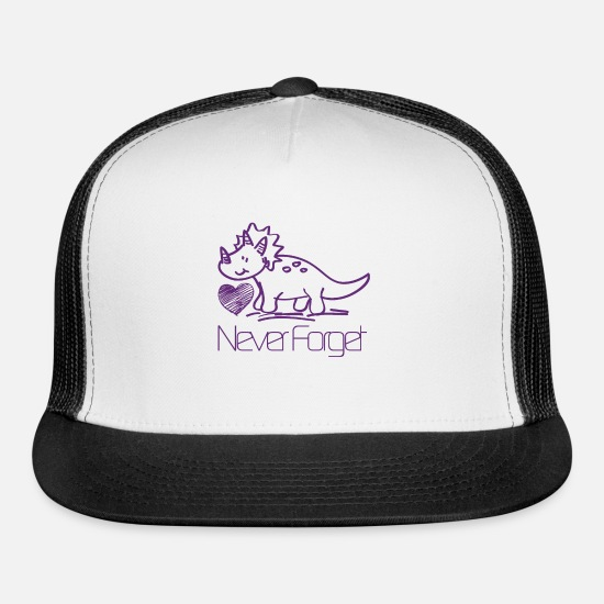 Never Forget Caps - Never Forget - Trucker Cap white/black