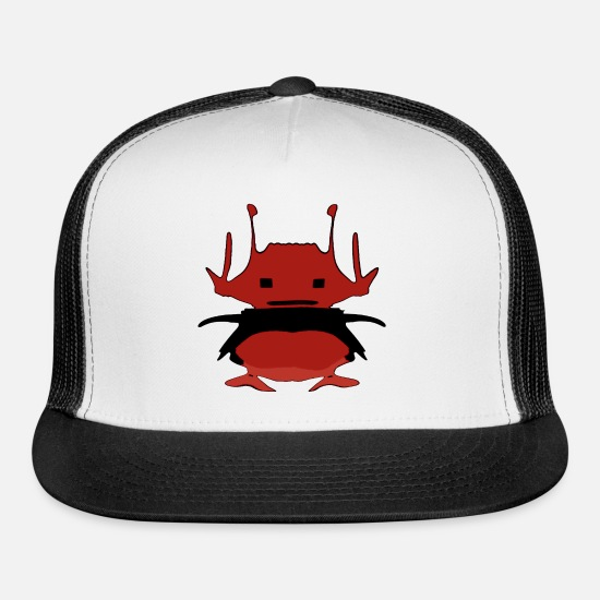 Reduced Caps - red alien - Trucker Cap white/black