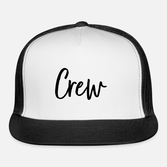 Party Caps - Crew bachelor party party celebrations - Trucker Cap white/black