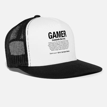 Pc Gaming Gamer Video Games PC Computer MMORPG Gift - Trucker Cap