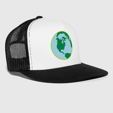 Earth Earth Day World 3 Color Vector - Trucker Cap
