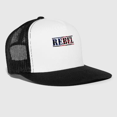 Rebel Distorted Flag - Trucker Cap