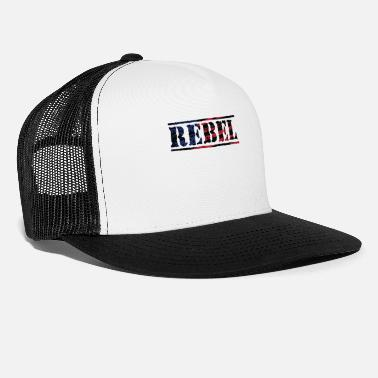 Rebel Flag Rebel Distorted Flag - Trucker Cap