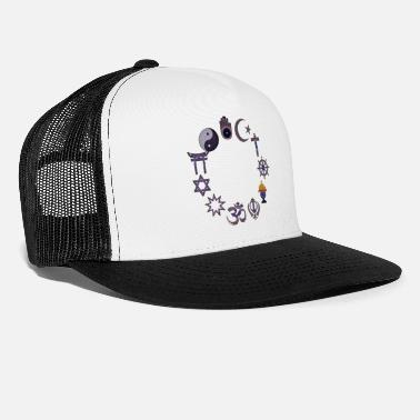 Religious Love and peace religious signs - Trucker Cap