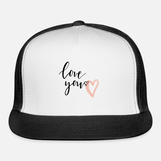 Love Caps - love you - Trucker Cap white/black