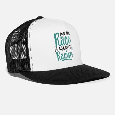 Anti anti racism anti trump shirt end racism apparel - Trucker Cap