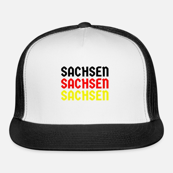 Flag Of Germany Caps - Sachsen Germany - Trucker Cap white/black