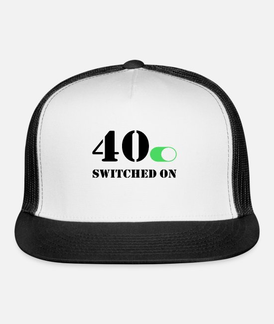 Forty Caps & Hats - Switched on 40 - Trucker Cap white/black