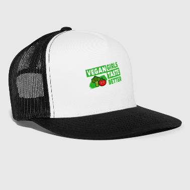 Vegan - Vegan Girls Taste Better (Broccoli Tomato) - Trucker Cap