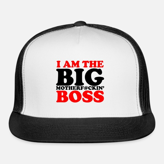 Boss Caps - im the boss New - Trucker Cap white/black