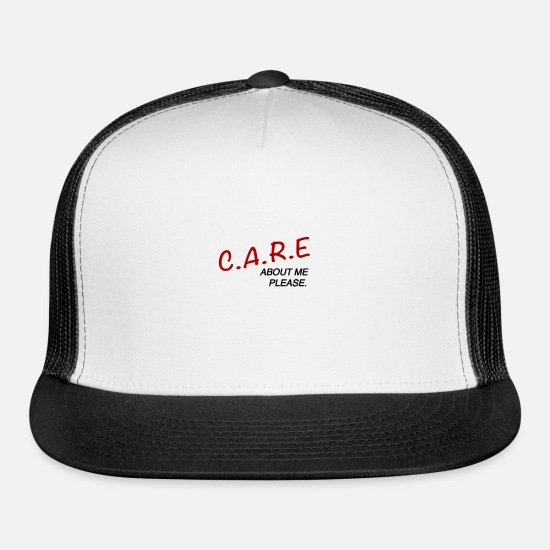 Mood Caps - Care - Trucker Cap white/black