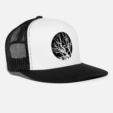 Circle Tree Shadow Silhouette - Trucker Cap