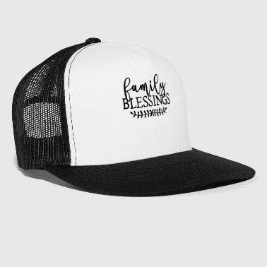 Bless You Family Blessings For You All Logo Gift - Trucker Cap